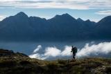 Descending Koinga Peak, Fiordland
