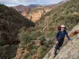 Climbing to the tops, Gammon Ranges