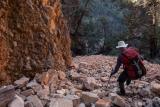 Descending McKinley Bluff, Gammon Ranges