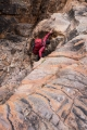 Climbing a dry waterfall, Gammon Ranges