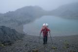 Tramper below Brodrick Pass
