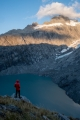 Mount Hooker and Otoko Glacier lake