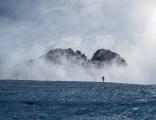 Climber on Hooker Glacier