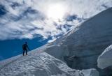 Climber, Hooker Glacier
