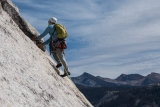 Climber on Snake Dike, Half Dome