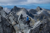 On the highest peak, Hunter Mountains, Fiordland