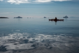 Paddling off the Bear Islands, East Greenland