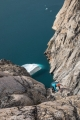 On 'Blueberry Buttress' above Ofjord, East Greenland