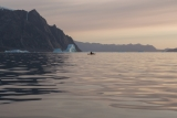 Paddling at dawn, Ofjord, East Greenland