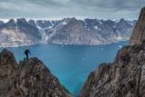 Climbing 'Tiliqua Peak', East Greenland