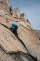 On 'Blueberry Buttress', East Greenland