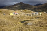 Camp on the Heath Mountains, Fiordland National Park