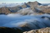 Kathryn Peak at dawn, Fiordland National Park