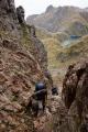A faultline pass, Merrie Range, Fiordland National Park