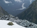 Camp above the Hollyford River, Darran Mountains, Fiordland National Park