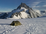 Camp on Ngapunatoru Plateau, Darran Mountains, Fiordland National Park
