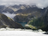 Descent to Lake Never Never, Darran Mountains, Fiordland National Park