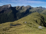 Descending Mt Troup, Fiordland National Park