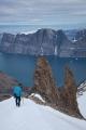 Descending from Renland icecap, East Greenland