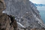 Scrambling on Milne Land, East Greenland