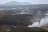 Walkers, steam vents and Reykjafjoll, Iceland