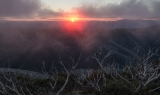 Sunset near Mount Hotham
