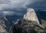Half Dome and storm