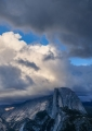 Half Dome and clearing storm