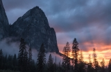Stormy sunset, Yosemite Valley