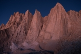 Pre-dawn light on east face of Mount Whitney