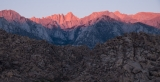 Sunrise on Mount Whitney from Alabama Hills