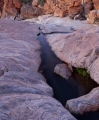 Gneiss streambed