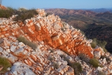 Iron-stained quartzite, Chewings Range