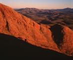 Folded strata, Mount Sonder
