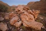 Boulders in alpenglow