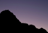 Mountain ridge and twilight