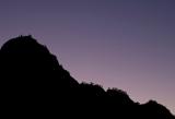 Mountain ridge and twilight