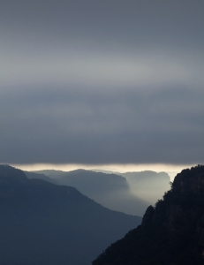 Grey dawn, Wolgan Valley