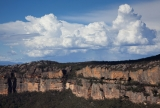 Cliffline and thunderclouds