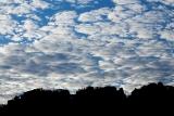 Clouds over ridge-crest