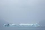 Icebergs in fog, Ofjord