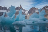 Crumbling iceberg and Penguin Tower