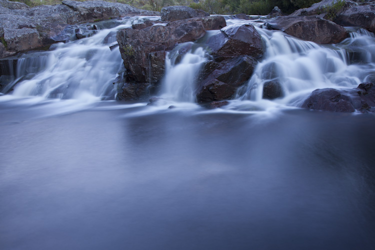 Cascades, evening, Morton National Park
