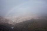 Rainbow over rhyolite hills