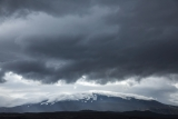 Stormclouds over Hekla volcano