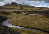 Stream and Torfatindar ridge
