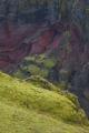 Moss above Markarfljotsgljufur gorge