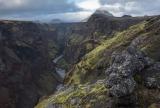 Markarfljotsgljufur gorge and Hattafell