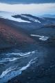 Frozen meltwater, edge of Eyjafjallajokull icecap