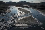 Iced stream below Eyjafjallajokull